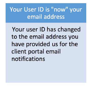 Your User ID is now your email address